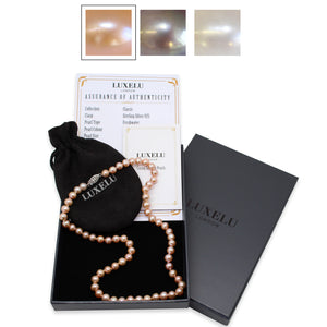 Luxelu London Collection : Classic Round Pearl Necklace