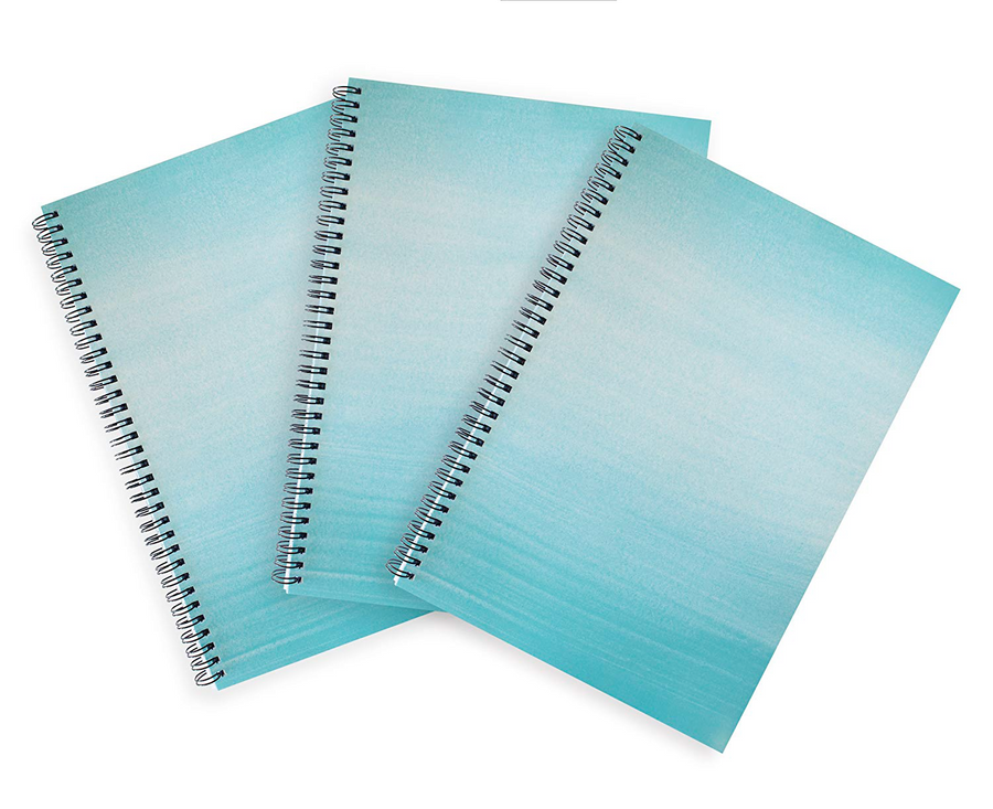 Blue A4 Hardback Notebook - Lined, Spiral Bound