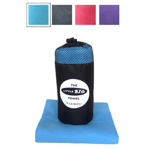 Blue Large microfibre towel