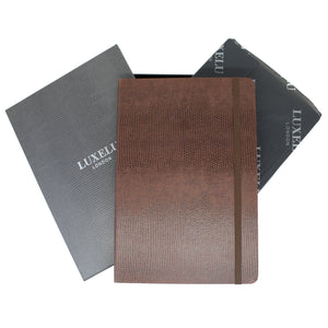 Signature Collection : Luxury Notebook Cocoa Brown