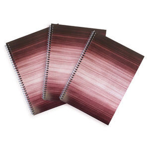 3 Black A4 Hardback Notebooks - Lined, Spiral Bound