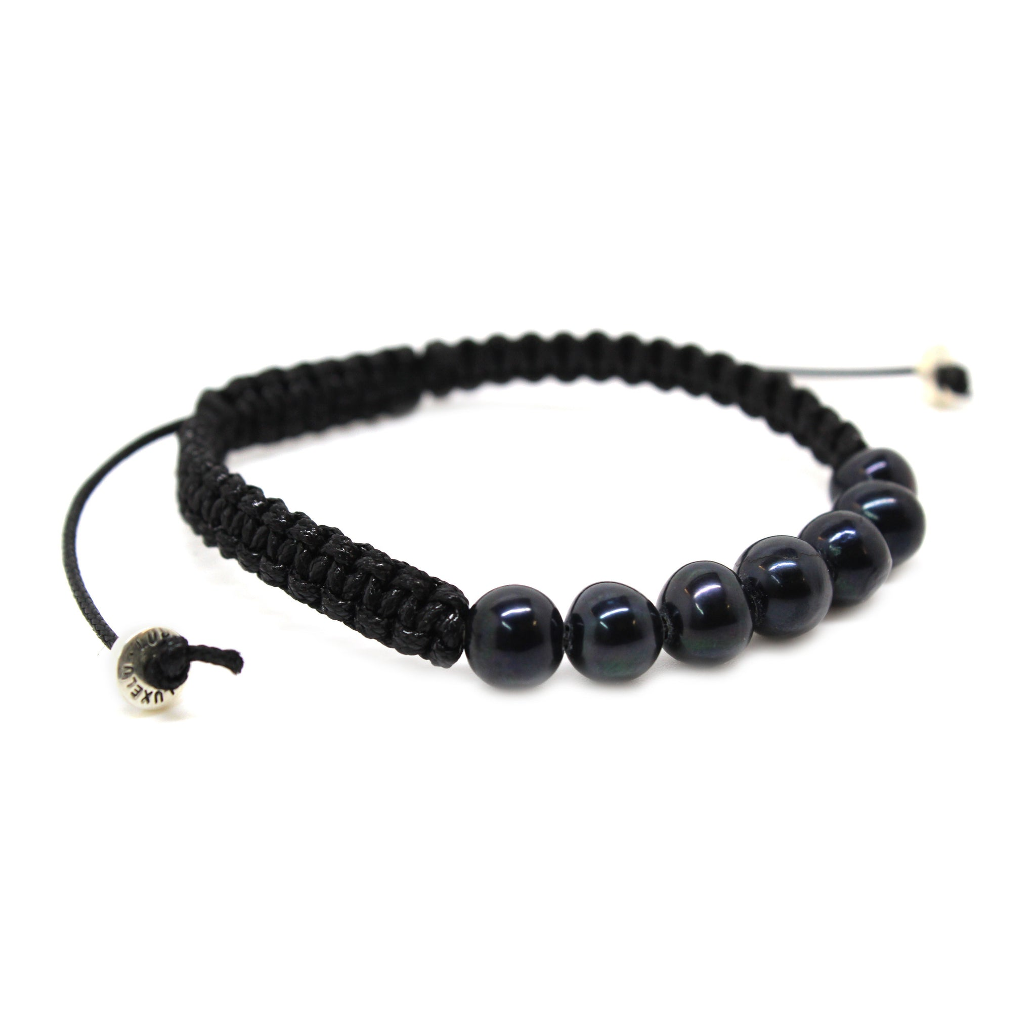 bracelet buy sterling back black mens handmade men noir silver onyx for bracelets s stretch and