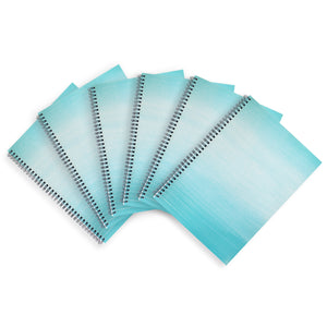 6 Blue A4 Notebooks - Lined, Spiral Bound