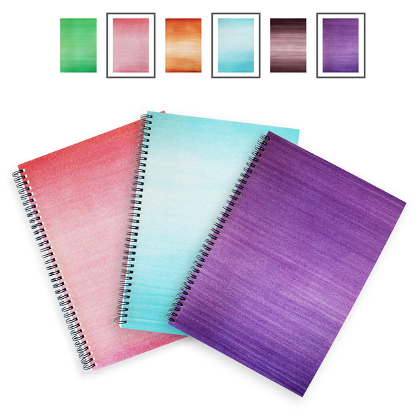 Lexy Notes : A4 Hardback Notebook : 3 Pack