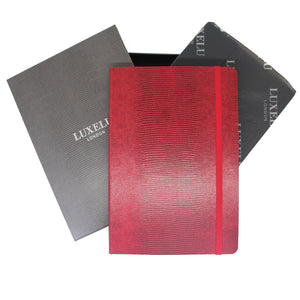 Red A6 Luxury Notebook