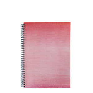 Pink A4 Hardback Notebook - Lined, Spiral Bound