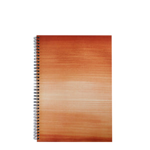 Brown A4 Hardback Notebook - Lined, Spiral Bound