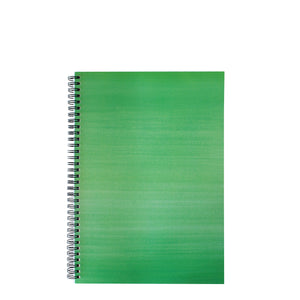 Green A4 Hardback Notebook - Lined, Spiral Bound