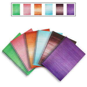 6 Colours A4 Notebooks - Lined, Spiral Bound
