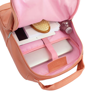 Cream Luxe Laptop Backpack