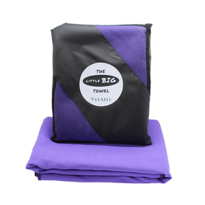 Purple microfibre towel