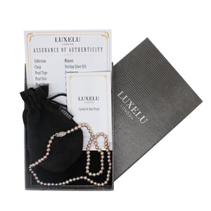 Luxelu London Collection : Mignon Near Round Pearl Necklace