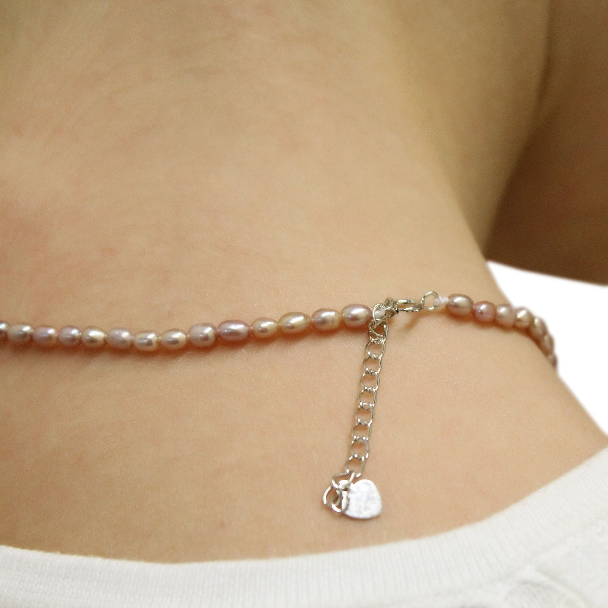 TINY PEARLS - Pearl Necklace for Girls eVdfHR80V