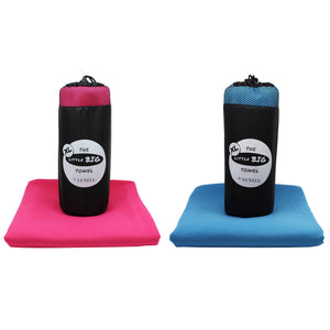 Pink and Blue Extra large microfibre towel