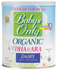 NATURE'S ONE, INC Baby's Only Organic Dairy Toddler Formula With DHA & ARA 12.7g - Crescent Medical Supply