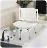 MEDLINE INDUSTRIES INC Easy Care Shower Chair with Backrest 250 lbs. - Crescent Medical Supply