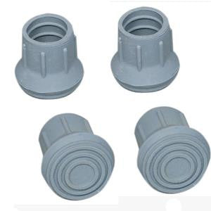 "Walker/Cane/Commode Replacement Tips, Latex, Gray  (Fits 1/2"", 7/8"", 1"", 1-1/8"" Tubing)"