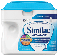 Similac Advanced w/Iron Pwdr, Retail 12.9oz. Can