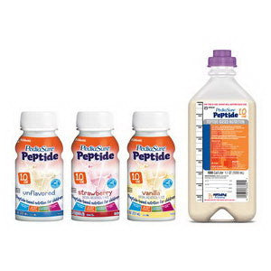 PediaSure Peptide 1.0 Ready to Hang, 1000 mL, Safety Screw Connector, Institutional
