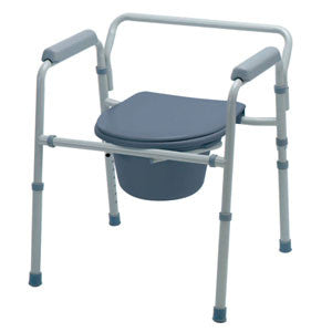 "MEDLINE INDUSTRIES INC Guardian Folding 3-In-1 Steel Commode, 21-1/4"" - Crescent Medical Supply"