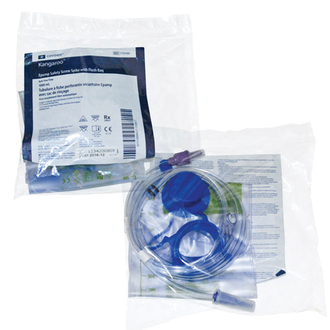 KENDALL HEALTHCARE Joey Safety Screw Spike with 1,000-mL Flush Bag - Crescent Medical Supply