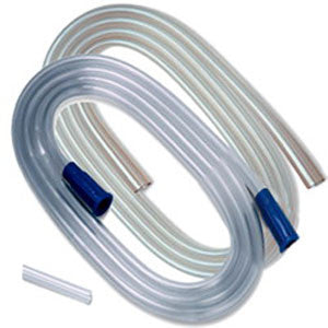 "KENDALL HEALTHCARE Argyle Suction Tubing with Molded Connectors 1/4"" x 6' - Crescent Medical Supply"