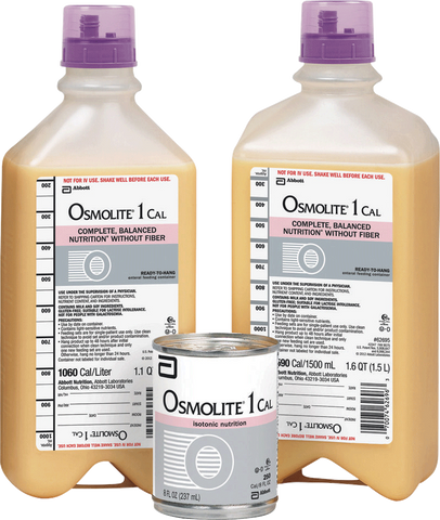 Osmolite 1 Cal Ready to Hang with Safety Screw Connector, 1000 mL, Institutional