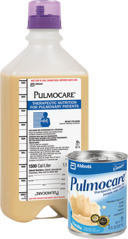 Pulmocare Institutional 1000 mL Ready to Hang with Safety Screw Connector, Vanilla