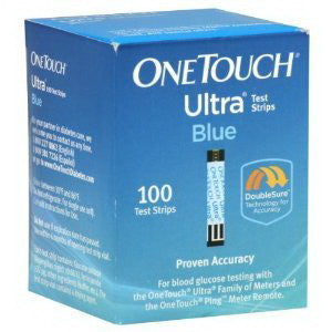 OneTouch Ultra Blue Blood Glucose Test Strip (100 count)