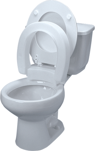 Tall-Ette Elevated Hinged Toilet Seat, Standard