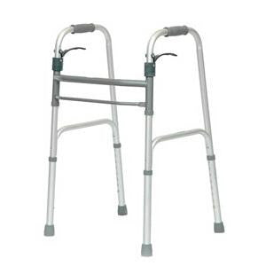 PMI Sure Lever Release™ Folding Walker without Wheels, Adult