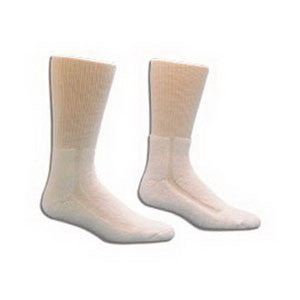 SALK COMPANY HealthDri Acrylic Diabetic Sock Size 10 - 13, White - Crescent Medical Supply