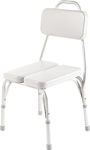 "INVACARE CORPORATION Vinyl Padded Shower Chair, 17-1/4"" - 22"" x 15-1/4"" x 16"" - Crescent Medical Supply"