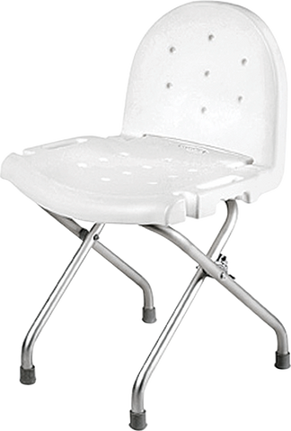 "INVACARE CORPORATION Folding Shower Chair with Back, 29"" - Crescent Medical Supply"