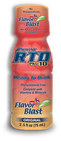 PhenylAde Ready To Drink 2.5 Fluid Ounce, Original Flavor Blast