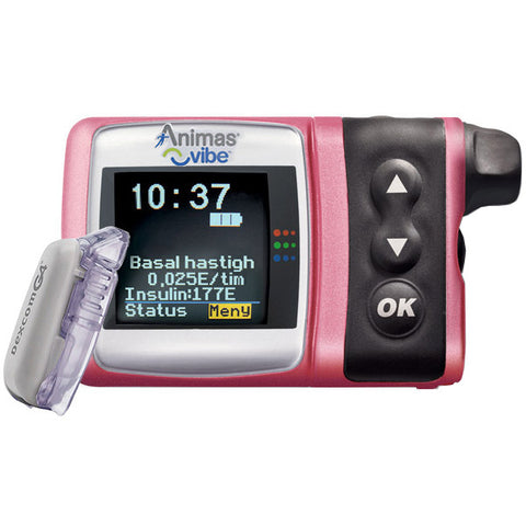 Animas Vibe Insulin Pump Adult indication, CGM System, Pink