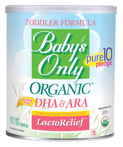 NATURE'S ONE, INC Baby's Only Organic LactoRelief Toddler, 12.7 oz. - Crescent Medical Supply