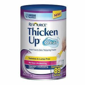 NESTLE HEALTHCARE NUTRITION INC Resource Thickenup Clear Instant Food Thickener, Unflavored, 4.4oz - Crescent Medical Supply