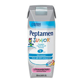 Peptamen Junior Strawberry Flavor Liquid 8 oz. Can