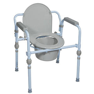 DRIVE MEDICAL Folding Steel Commode - Crescent Medical Supply