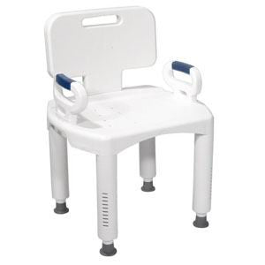 DRIVE MEDICAL Premium Series Bath Bench with Back and Arms, 350 lb Weight Capacity - Crescent Medical Supply