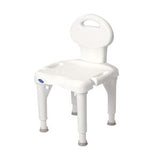 "I-Fit Shower Chair with Back, 35-1/4"" x 20"" x 18"", White"