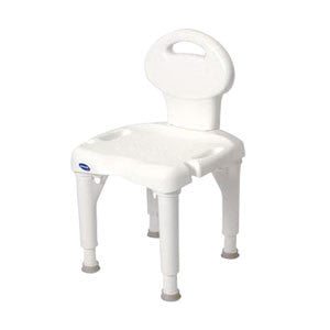 "INVACARE CORPORATION I-Fit Shower Chair with Back, 35-1/4"" x 20"" x 18"", White - Crescent Medical Supply"