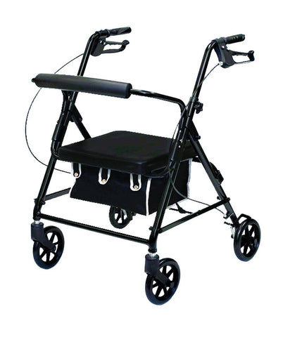 Low-Profile Aluminum Rollator with Loop Brakes