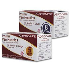"Advocate Mini Pen Needle 31G x 3/16"" (100 count)"