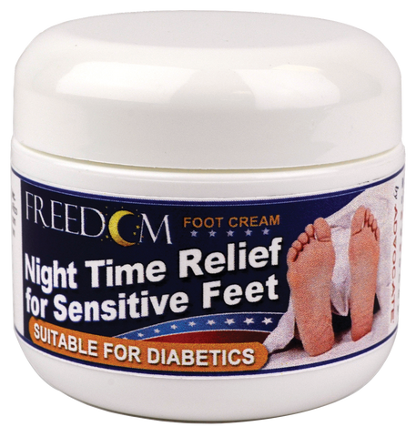 PHARMA SUPPLY Freedom Night Time Foot Cream, 2 oz. Tub - Crescent Medical Supply