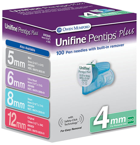 Unifine Pentips Plus Short Pen Needle 31G x 8 mm (100 count)
