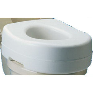 CAREX HEALTH BRANDS Raised Toilet Seat, Fits Standard Toilet - Crescent Medical Supply