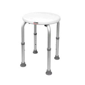 Adjustable Round Shower Stool For Narrow Tubs