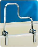 "CAREX HEALTH BRANDS Tri-Grip Bathtub Rail, 18""W X 9""H And 17""H, Each - Crescent Medical Supply"